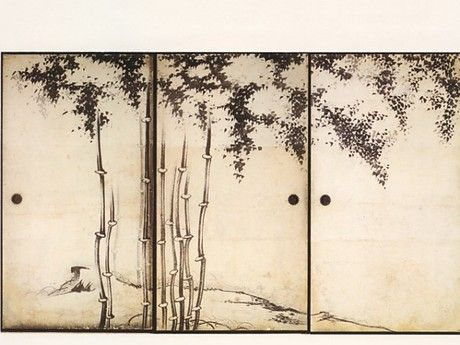 Ito Jakuchu. Detail of Bamboo Fusuma: