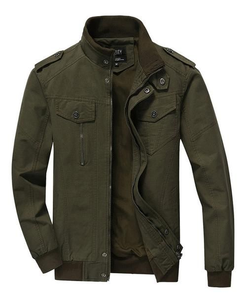 Mens Military Jacket Zipper Hooded Jacket Coat Outrwear