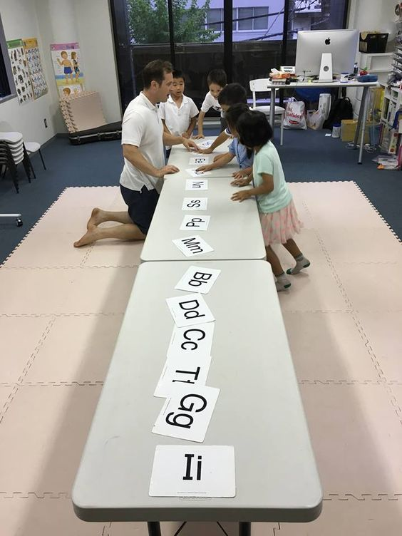 Wednesday 5:30 1st graders  i-i-igloo, g- g-gorilla, t-t-tiger,c-c-cat, d-d -dog... 最初の文字の音を、一つづつ確認しながら(フォニックス)単語を声に出し、進んでいくタスクをしました。日本語読みでは、どうしてもドッグぅ、キャットぉ、ツぅリー、などと、要らない場所に母音が入ってしまいます。これでは正しくスペリングができません。読みと単語の関係をしっかり掴めるように最初の段階でフォニックスを徹底していきたいと思います!