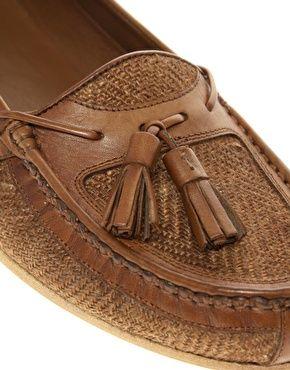 Enlarge ASOS Woven Insert Tassel Loafers