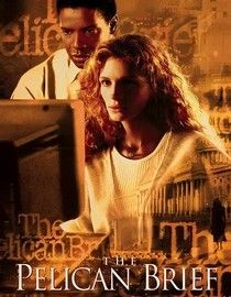 The Pelican Brief-1993-            When law student Darby Shaw (Julia Roberts) writes a brief on her theory about the motive behind the assassinations of two Supreme Court justices, she finds bullets flying in her direction and turns to investigative reporter Gray Grantham (Denzel Washington) for help. Director Alan J. Pakula returns to the world of inside-the-Beltway conspiracies with this legal thriller based on a John Grisham novel.