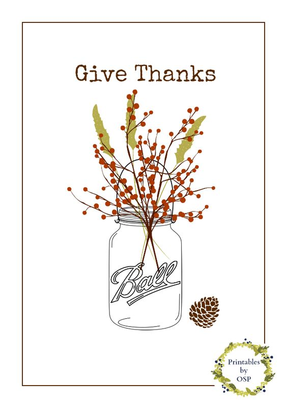 """Give Thanks"" Free Printable Poster #freeprintable #freeprintables Get more free printable posters - http://www.pinterest.com/hre/free-printable-wall-art/"