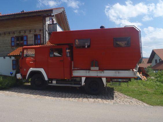 Magirus 130 D9 FA Allrad Wohnmobil mit Absetzkabine 4x4 in in Rettenbach