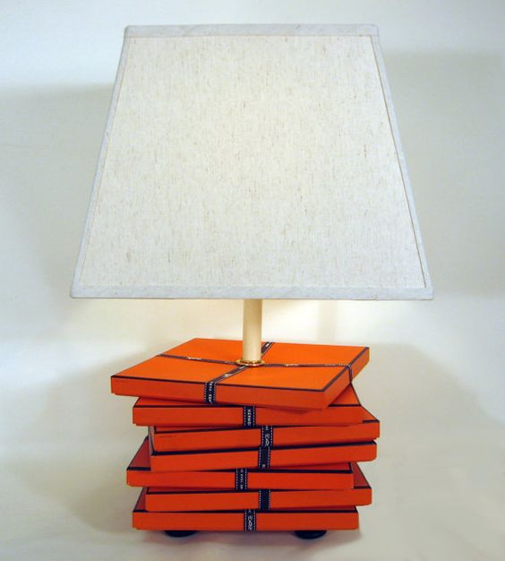 Hermes. Chic Hermes Lamp Orange Hermes Gift Boxes by FirstandFig