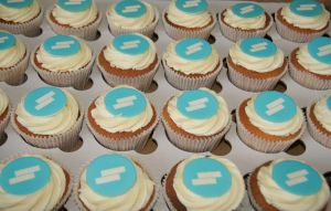 Branded Corporate cupcakes london