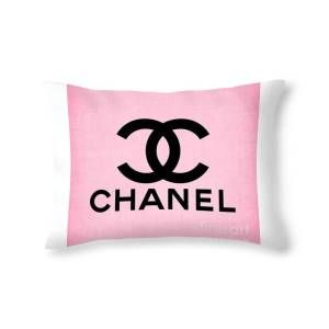 classic pink logo throw pillow for sale