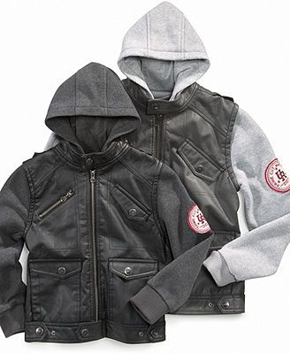 Urban Republic Kids Jacket, Little Boys Faux Leather Jacket with ...