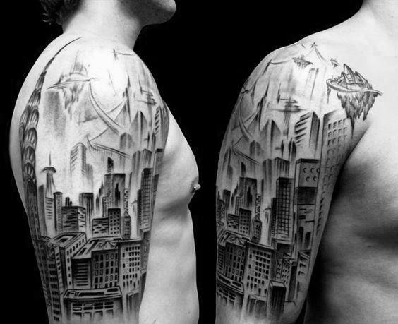 60 New York Skyline Tattoo Designs Fur Manner Big Apple Ink Ideen Mann Stil Tattoo In 2020 Skyline Tattoo Nyc Skyline Tattoo New York Tattoo