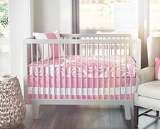 Bloom 2-Piece Crib Bedding Set in Petal Pink