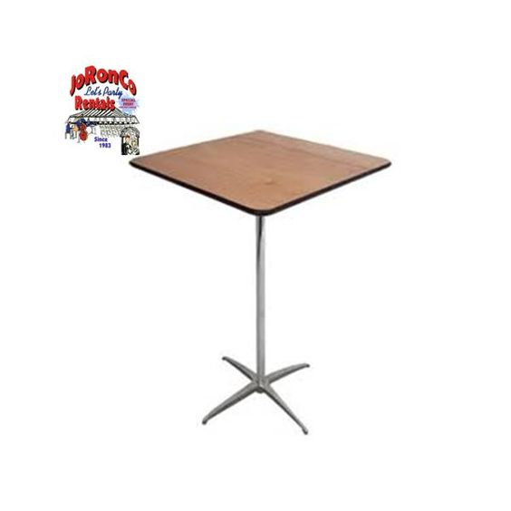36x36 square cocktail table available in standing height for Height of cocktail tables