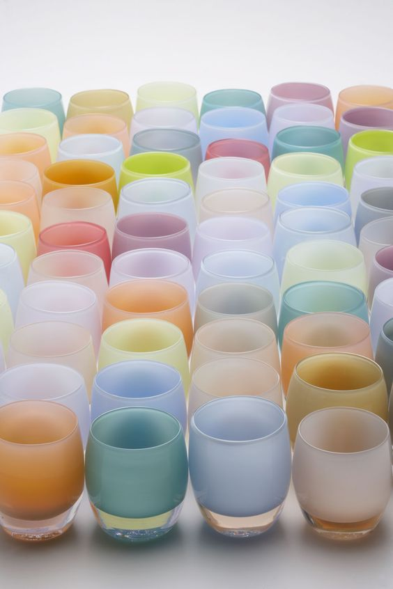 spring pastels * glassybaby