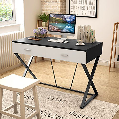 Tribesigns 55 Large Computer Desk With Pull Out Keyboard Tray