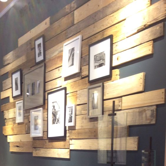 Tasteful wood paneling.  Great idea to punch up an otherwise boring wall