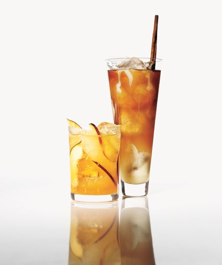 Creamy Iced Chai Tea and Gingery Peach Cooler: Use ginger ale along ...