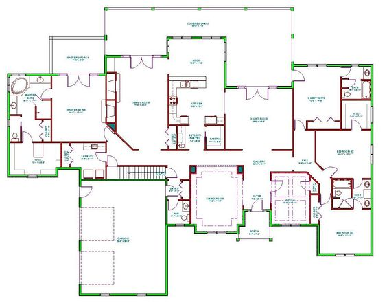 House plans  Mediterranean house plans and Mediterranean houses on    Mediterranean House Plans   Mediterranean House Plan D     Standard Set  pdf Format