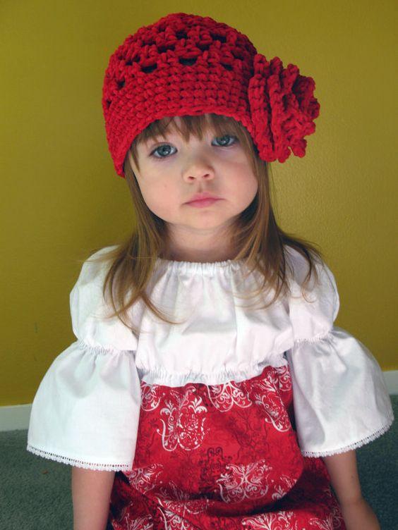 Girls Crocheted Hat  Toddler Crocheted Beanie  by TatjanaGrace, $25.00