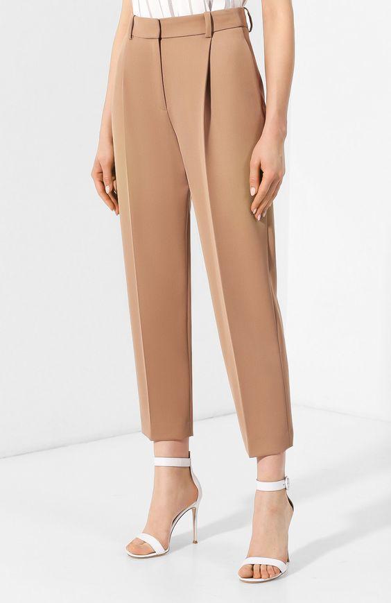 Женские коричневые брюки со стрелками See by Chloé, арт. CHS19SPA05003 купить в ЦУМ | Фото №3