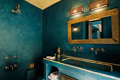 モロッコインテリア トイレ 壁 コーディネート例