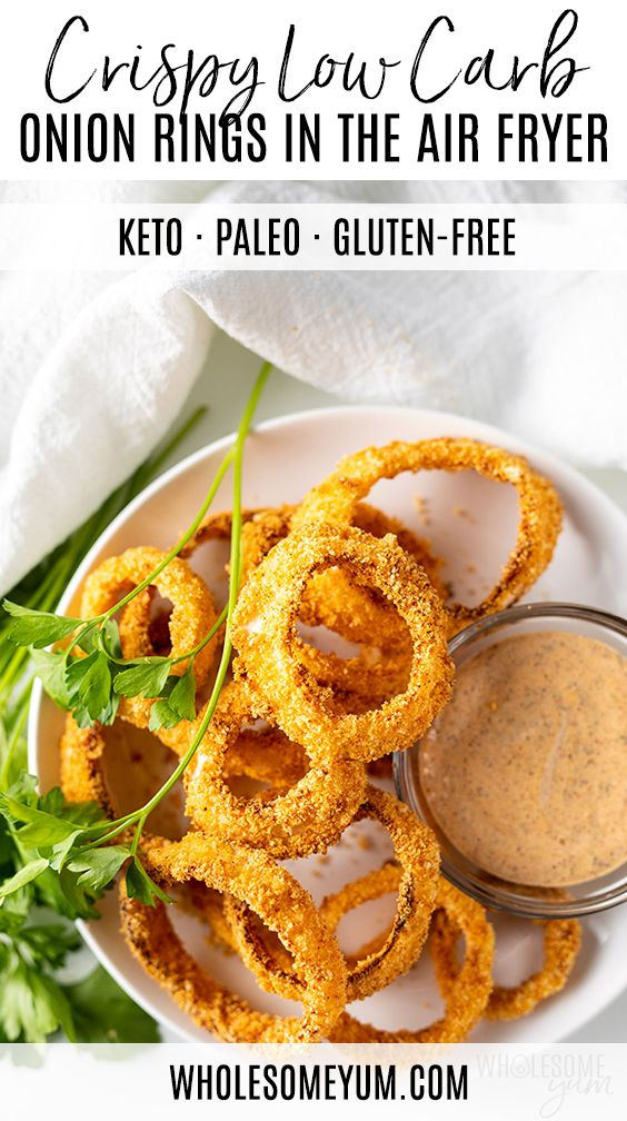 Air Fryer Keto Onion Rings Recipe Air Fryer Recipes Easy Air