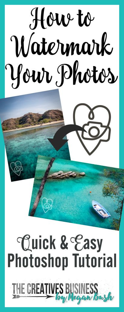 Learn how to create a watermark to protect your photos with this Photoshop Tutorial.  Quick & easily create a transparent watermark to use over and over again.  Tutorial complete with step-by-step instructions with photos.  Find it online at http://www.thecreativesbusiness.com/create-a-watermark-photoshop-tutorial/ or Pin It for later.
