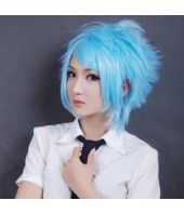 Neon Genesis Evangelion Rei Ayanami Cosplay Wig - Synthetic Hairpiece