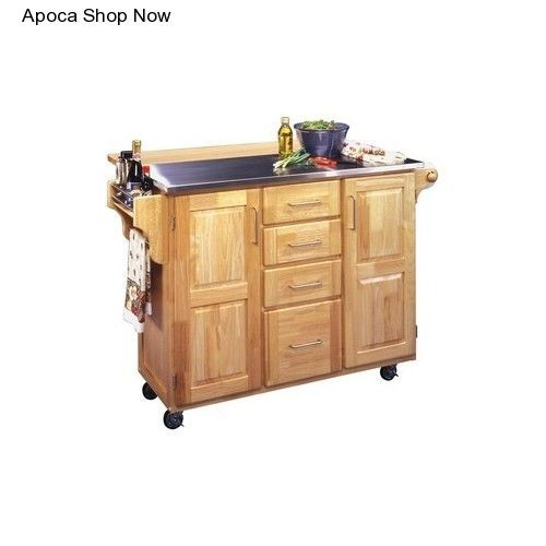 Kitchen Bed & Breakfast Island Cabinet Nook Counter Dining Cart Bar On Wheels #HomeStyles