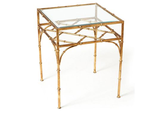 Bamboo Side Table, Gold | One Kings Lane