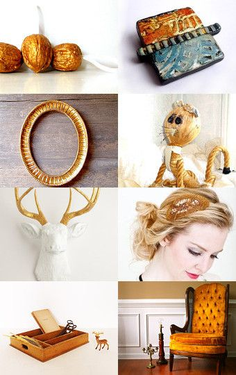 Golden.on etsy--Pinned with TreasuryPin.com