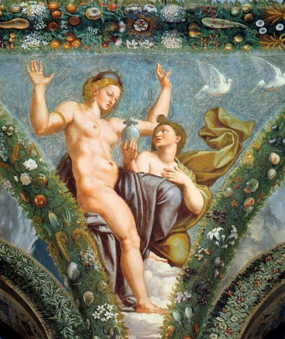 Venus y Psique, de Raffaello Sanzio