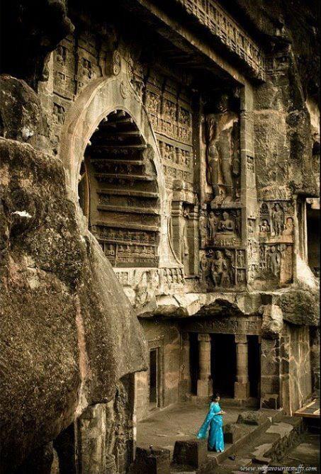 Buddha Viharaat Karla in Pune, India    Please please pleeease, I want to live here so badly.