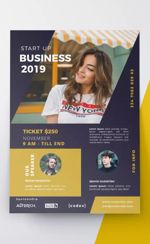 Business Flyer Template Ai Eps Fully Editable Easy To