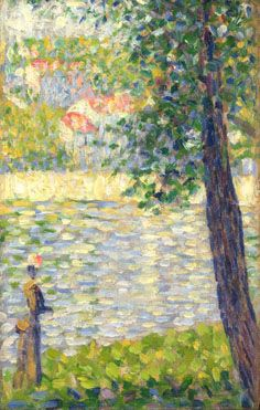 """""""The Morning Walk"""" 1885, Georges Seurat. The National Gallery, London."""