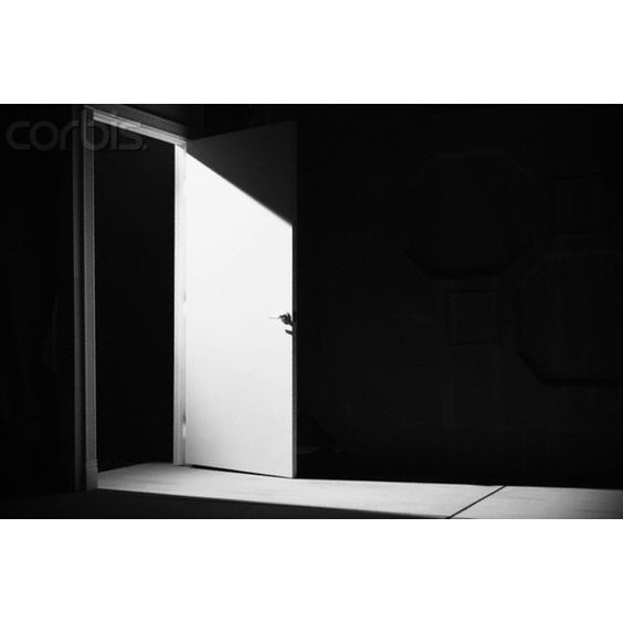 Dark Empty Room and Open Door ❤ liked on Polyvore featuring backgrounds and interior