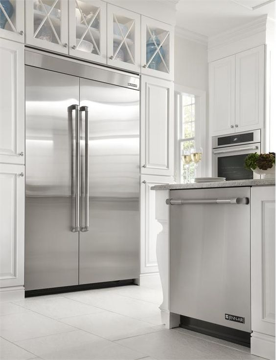 Jenn air 48 fully integrated built in side by side for Jenn air floating glass refrigerator