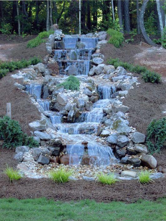 Water Feature In Garden Waterfall Landscaping Water Features In The Garden Garden Waterfall
