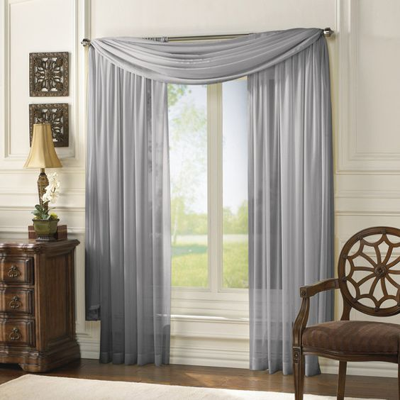 Serenade Sheer Window Curtain Panels by Bed, Bath & Beyond. | For ...