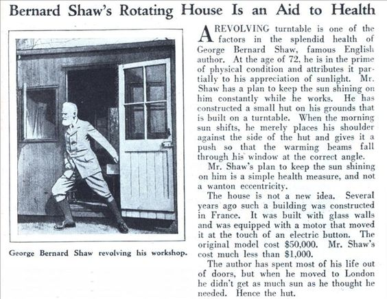 Shaw writing shed