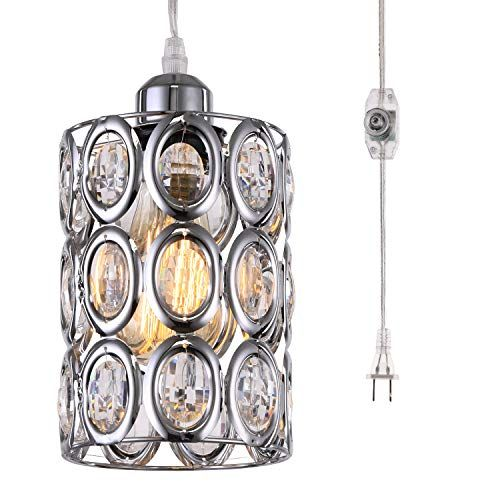 Hmvpl Plug In Crystal Chandelier Pendant Light With Clear Https Www Amazo Crystal Pendant Lighting Hanging Pendant Light Fixtures Vintage Pendant Lighting