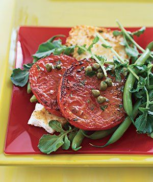 Pan-Grilled Tomato Salad With Lemon Dressing