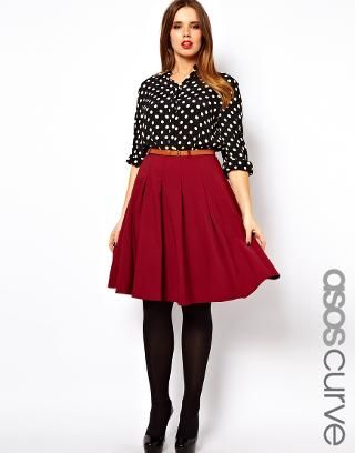 ASOS Curve | ASOS CURVE Midi Skirt With Belt at ASOS in size 18 ...