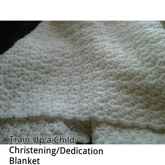 Train Up A Child christening blanket by MeeMeesBoutique on Etsy, $40.00