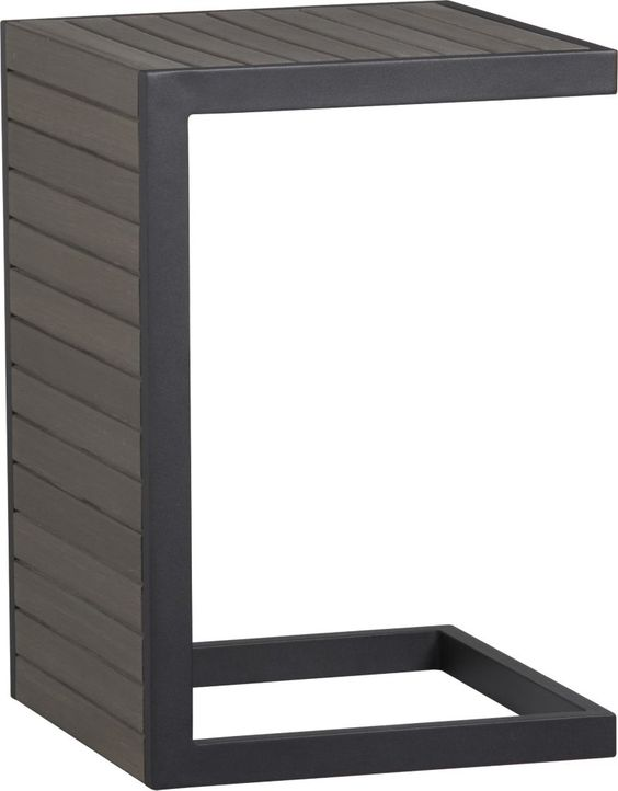 Alfresco Grey Side Table Stool Seasons Warm And Outdoor