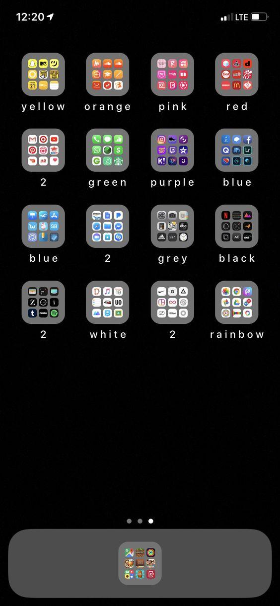 my phone is so organized I love it 🥰🥰