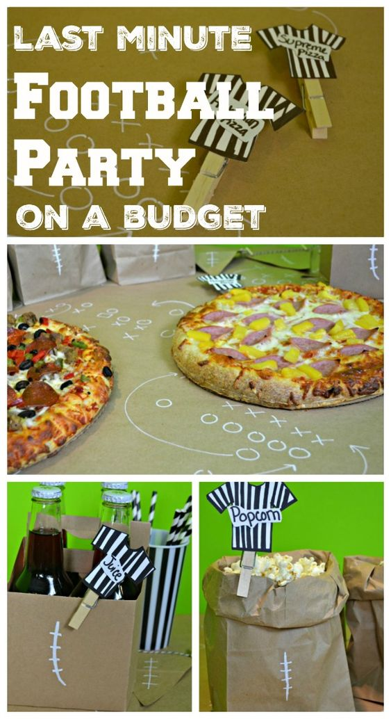 Last minute football party plan on a budget crafts for Last minute party food