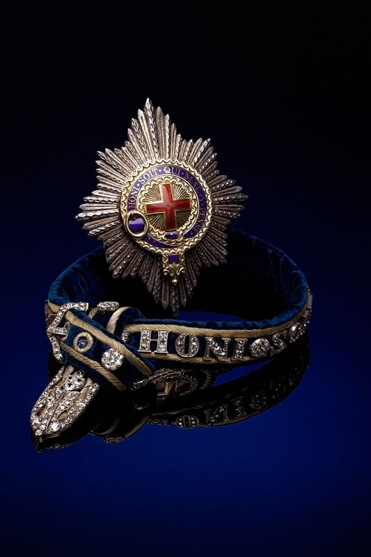 Order Of The Garter Official Star And Diamond Garter To Be Displayed At Tallinn Museum Of Orders Of Kn Order Of The Garter Mens Silver Jewelry Royal Jewelry