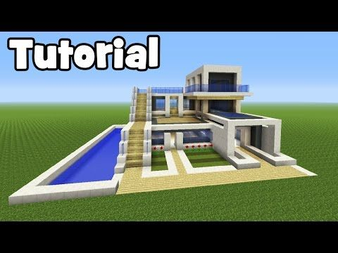 Minecraft Tutorial How To Make A Big Modern House Youtube Minecraft House Tutorials Minecraft Modern Minecraft Tutorial