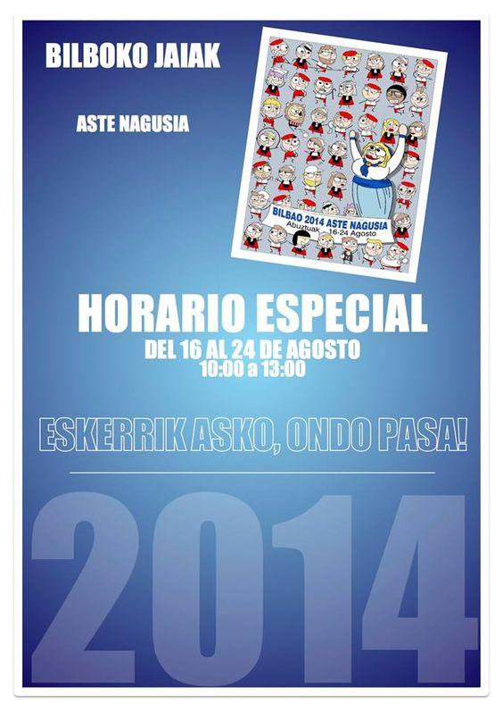 Hola chic@s!!! Como muchos sabeis... esta es nuestra semana!  ASTE NAGUSIA DE BILBAO  Queremos disponer de tiempo para todo... trabajaremos duro, pero tambien disfrutaremos de la mejor semana del año en la capital del mundo!   Nuestro horario durante estas fiestas será de 10:00 a 13:00 del 16 al 24 de Agosto.  Eskerrik asko eta ondo pasa jaietan!   #bilbao #abalorios #cascoviejo #txupin #jaia #marijaia #astenagusia #konpartsa #semanagrande