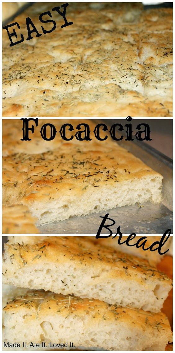 Made It. Ate It. Loved It.: Easy Focaccia Flat Bread