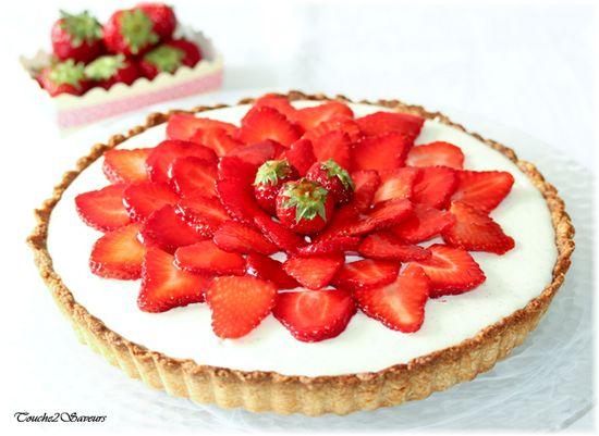 Tarte aux fraises et mousse au chocolat blanc : la recette facile