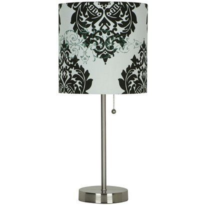 black and white damask lamp shade bedroom gonna order this from target